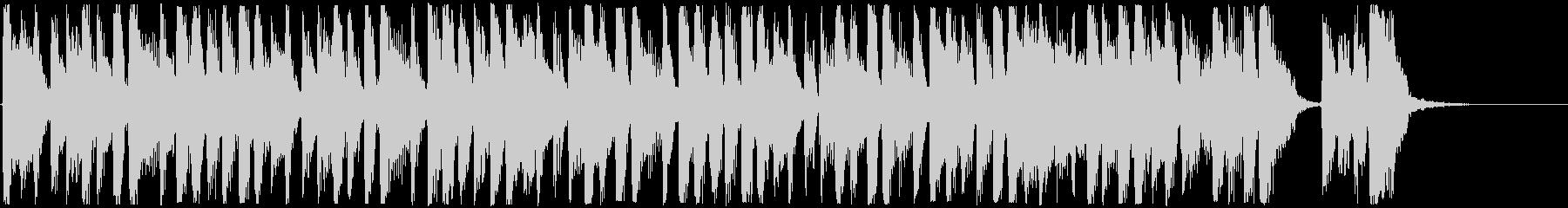 15秒のTVCMに。軽快なブラス系の未再生の波形
