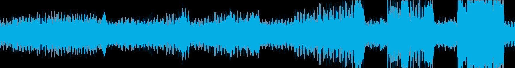 ワクワクしてくるBGM2 ループ版の再生済みの波形