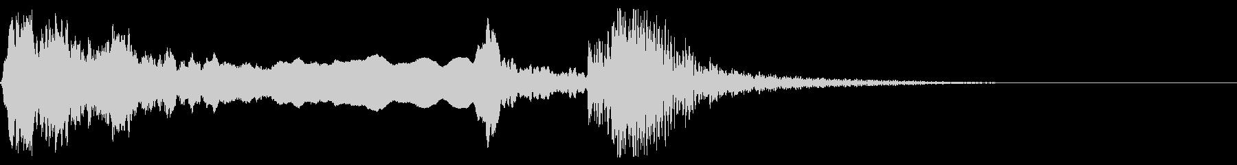 和風な歌舞伎の笛(能管)太鼓インパクト5の未再生の波形