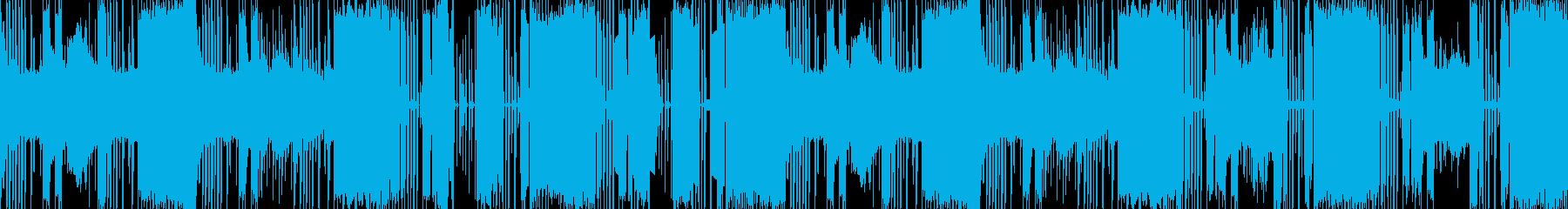 ビートがかっこいいエレクトロサウンドの再生済みの波形