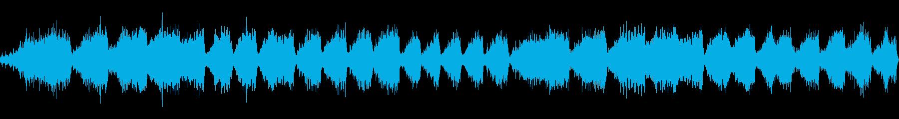 水と鳥の声を使った瞑想用BGMの再生済みの波形