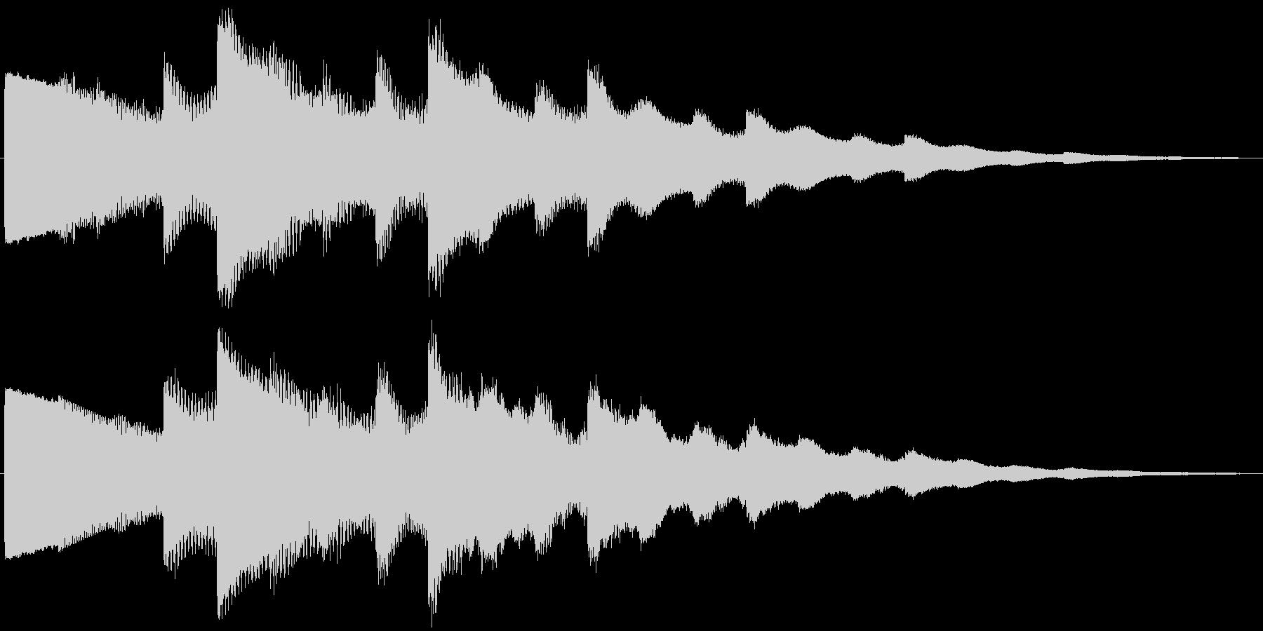 ベルの静かな場面転回音10の未再生の波形