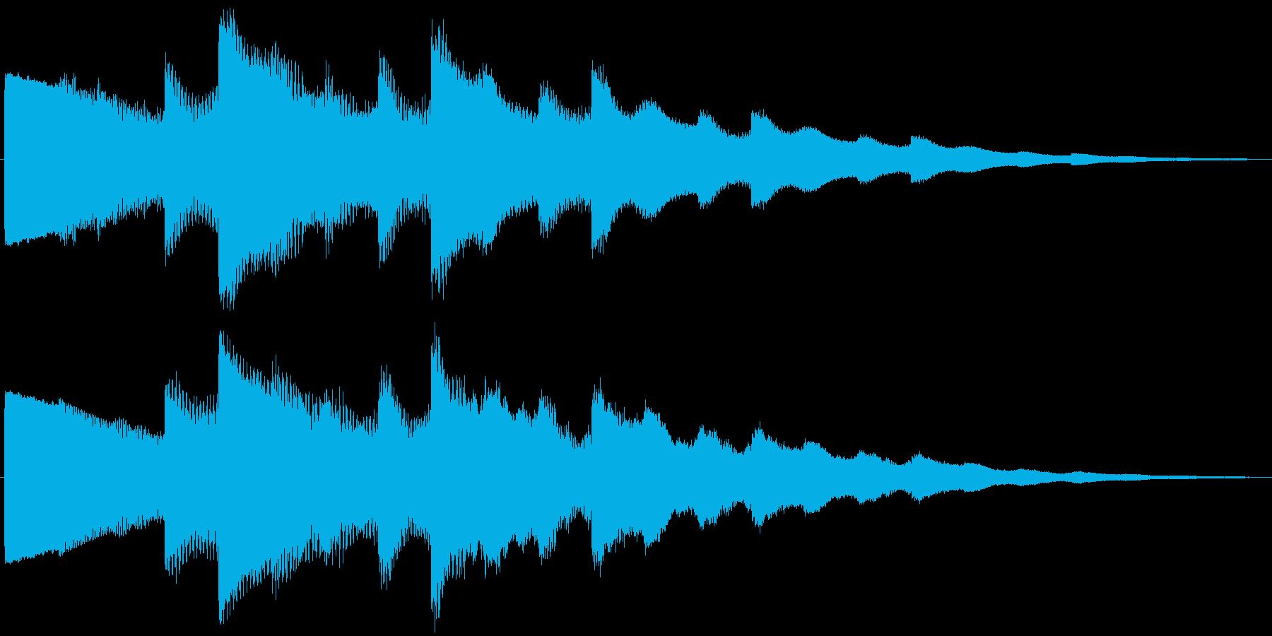 ベルの静かな場面転回音10の再生済みの波形