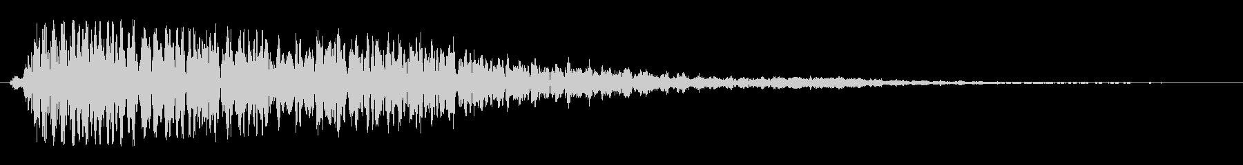 シンセ音を重ねた和音系のオシャレな効果音の未再生の波形