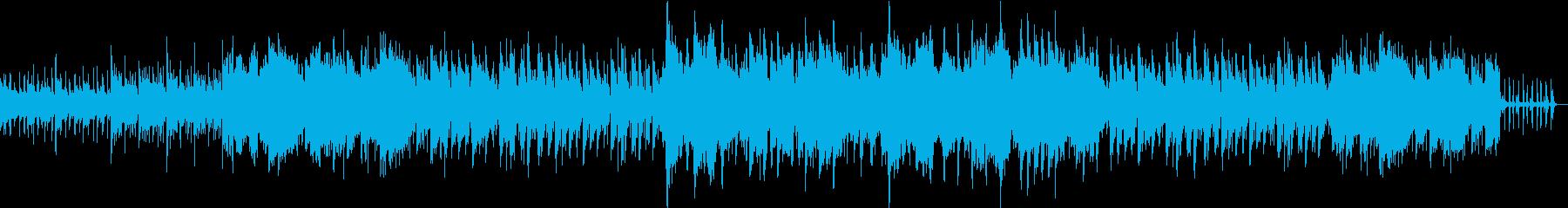 ほのぼのとした日常を彩るカントリー風の曲の再生済みの波形