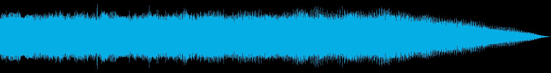 ディストーションのメタルギター 場面転換の再生済みの波形