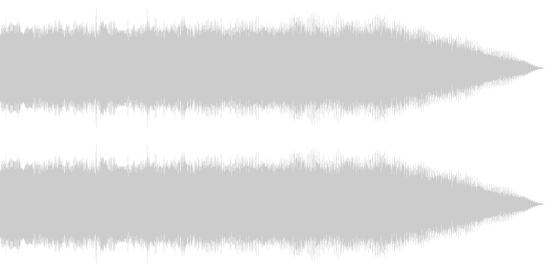 ディストーションのメタルギター 場面転換の未再生の波形