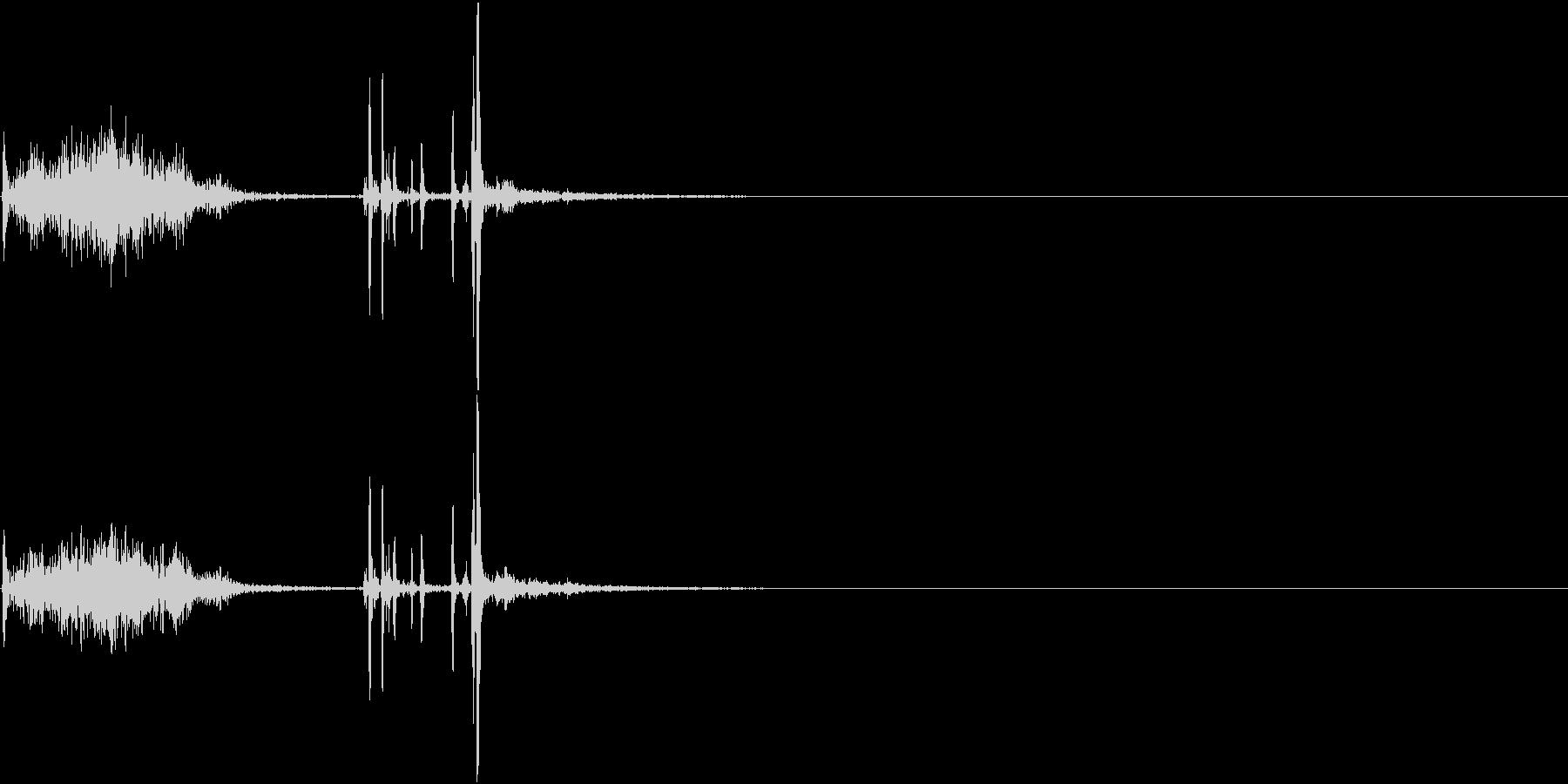 【生録音】500mlの缶ビールを開ける音の未再生の波形
