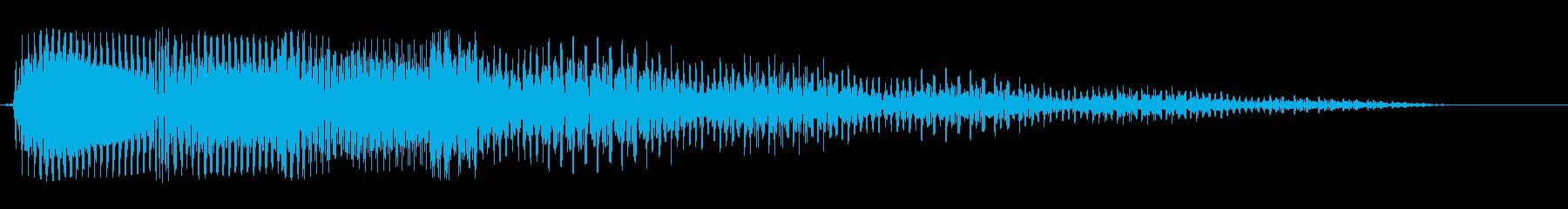 ドドダダ〜ン(淀んだ感じの効果音)の再生済みの波形