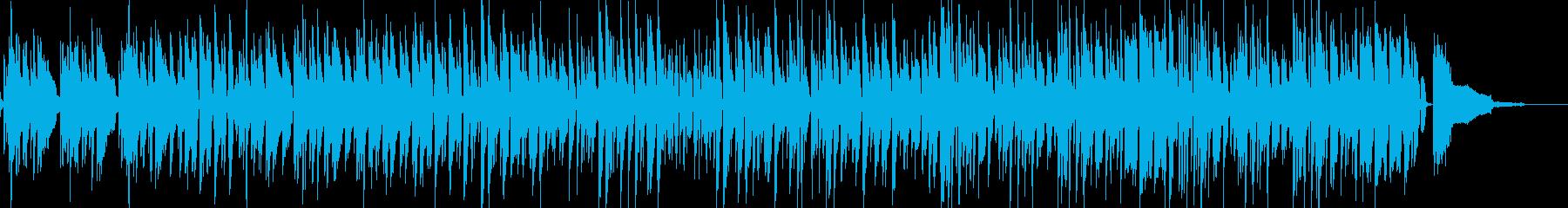 ピアノとウッドベースのJAZZの再生済みの波形