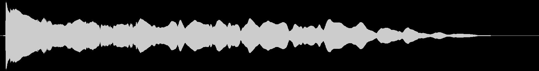 カウント ピーーー ぴー ぷー プーーーの未再生の波形