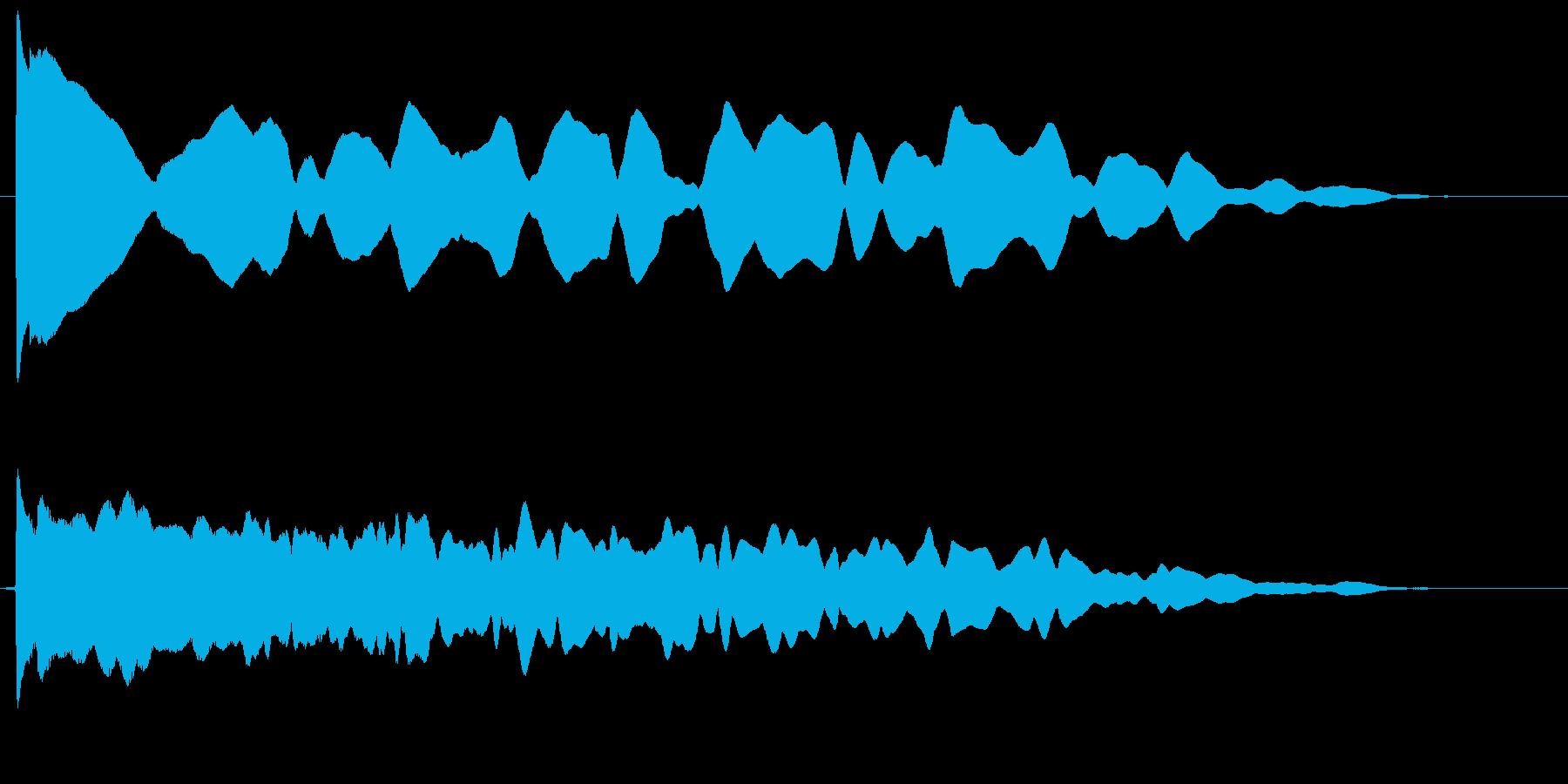 カウント ピーーー ぴー ぷー プーーーの再生済みの波形