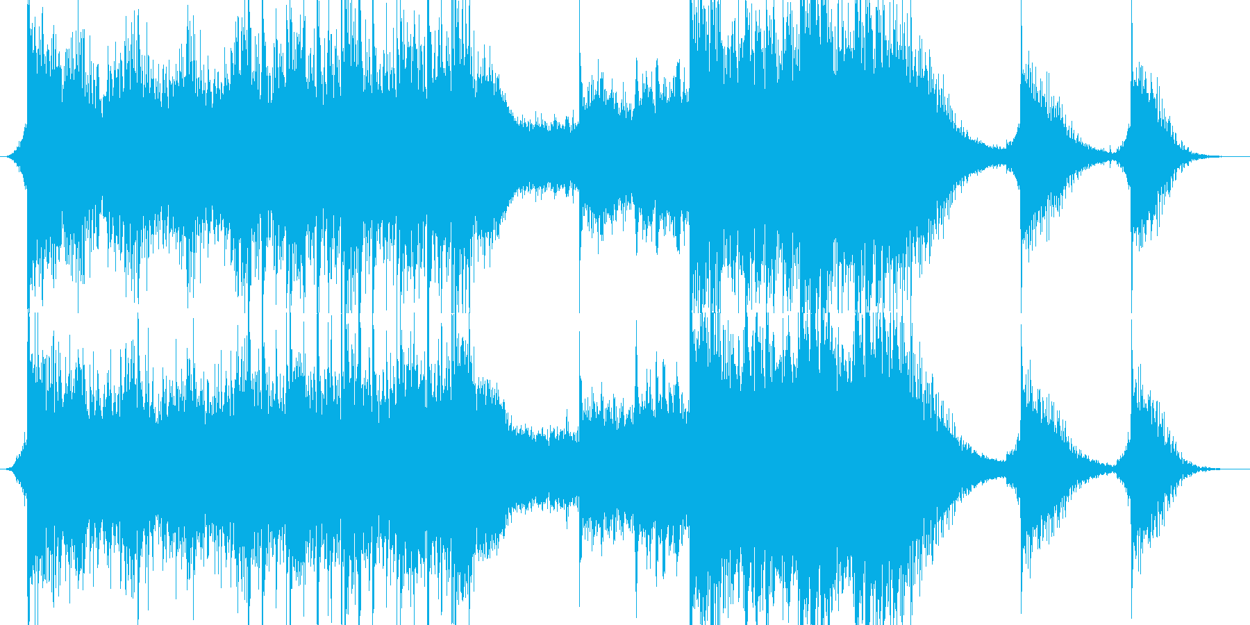 重低音が目立つシネマティックな曲の再生済みの波形