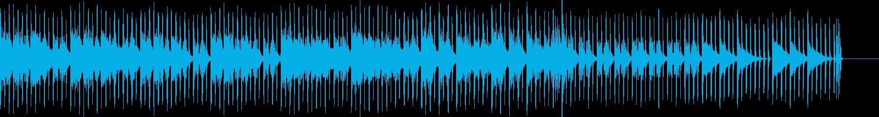 幻想的で特徴的なエレクトロ音が入った曲の再生済みの波形
