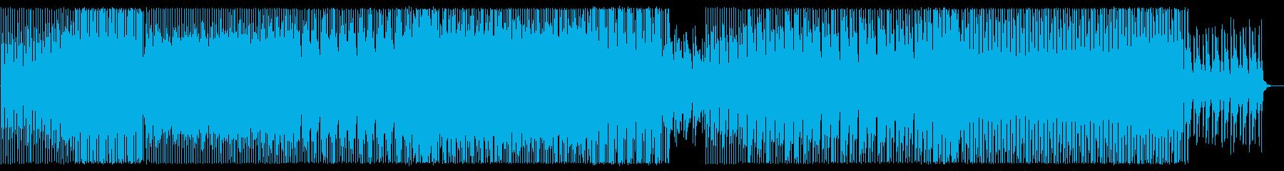 軽快で気持ちいい変則なシンセサイザーの曲の再生済みの波形