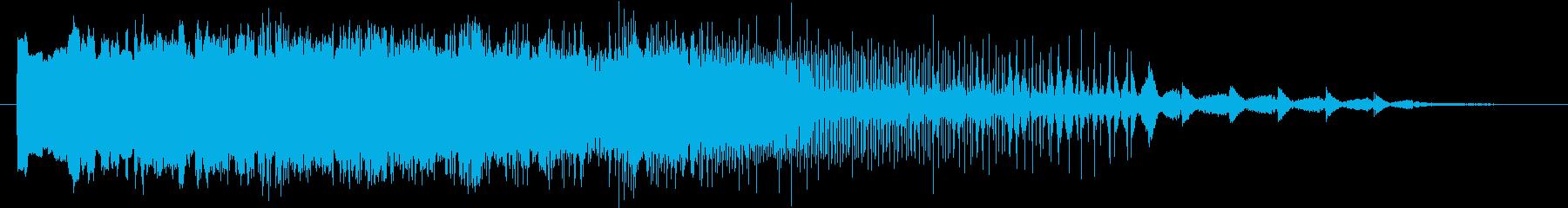 宇宙の中での乗り物の急ブレーキ音の再生済みの波形
