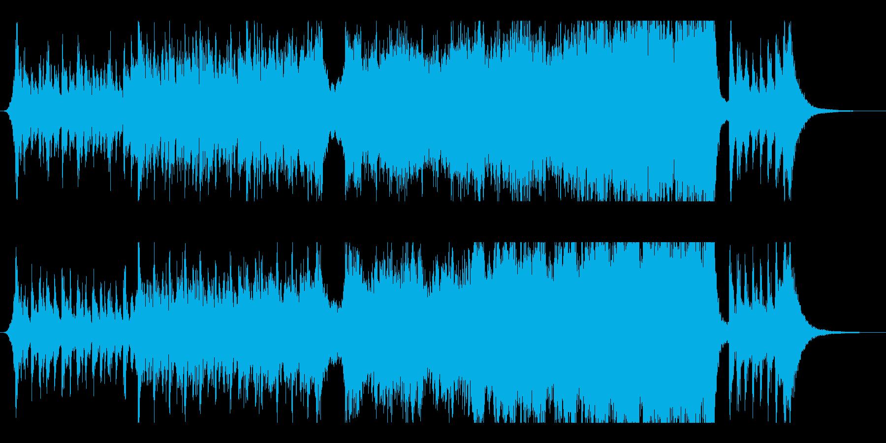 壮大でスリリングな展開の劇半的BGMの再生済みの波形