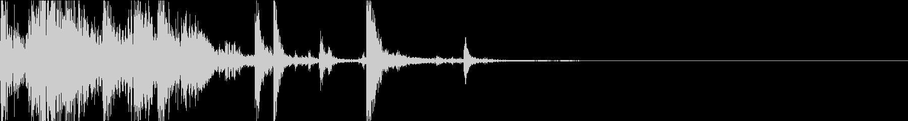 Katana 刀を握る/構える音 鍔 2の未再生の波形