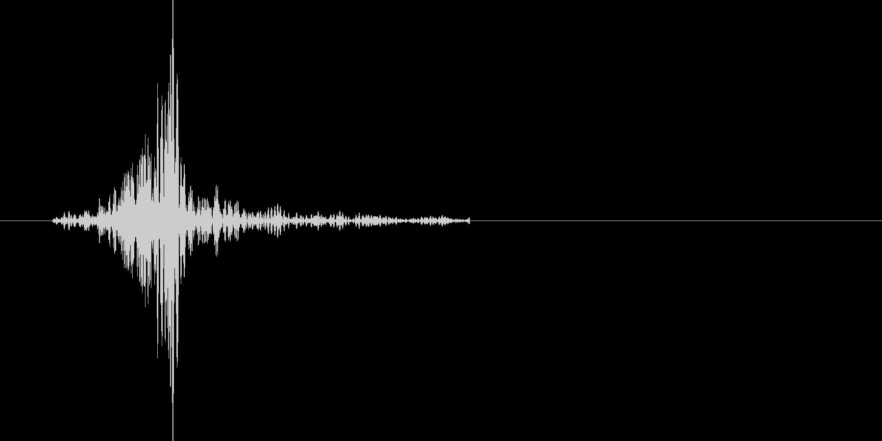 ブンッ。武器を振る音です(2)の未再生の波形