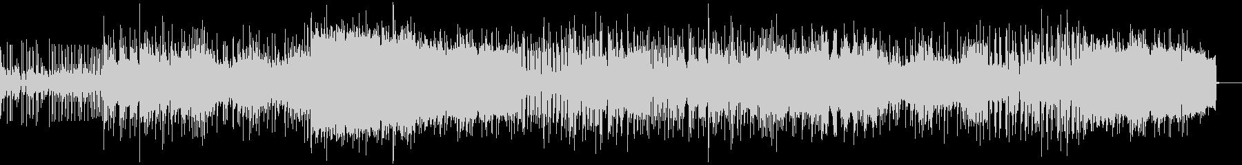 激しいノリのニューウェイヴ風ポストロックの未再生の波形