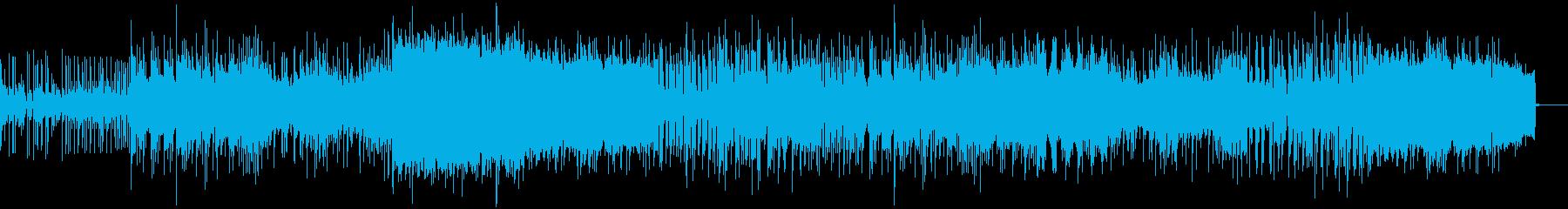 激しいノリのニューウェイヴ風ポストロックの再生済みの波形