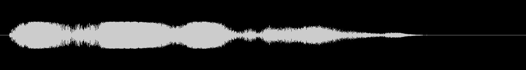 低電力バズのパルスの未再生の波形
