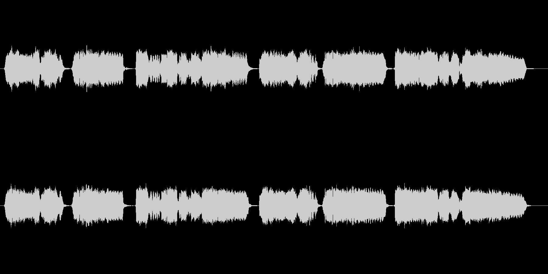 童謡「赤とんぼ」の篠笛独奏の未再生の波形