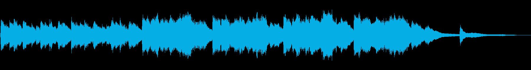 【30秒】朝焼けイメージのシンプルBGMの再生済みの波形