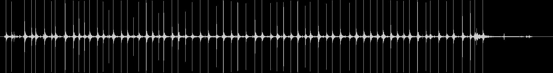 1行高速で入力する手動タイプライターの未再生の波形
