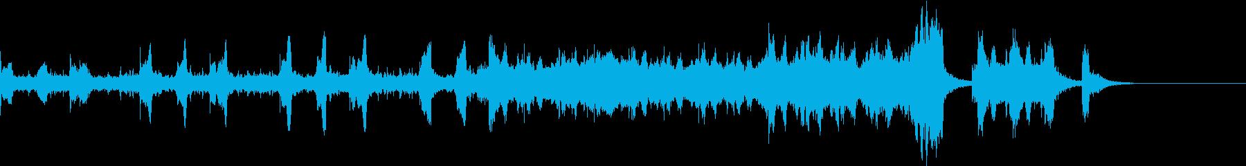 ジングルや映画予告編にストリングスBGMの再生済みの波形