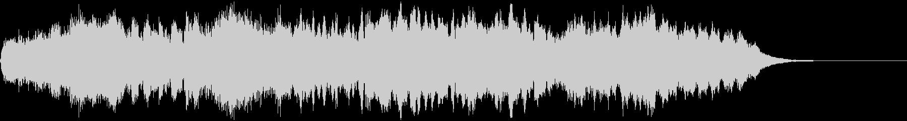 フルートのメロディが優しい管弦楽ジングルの未再生の波形