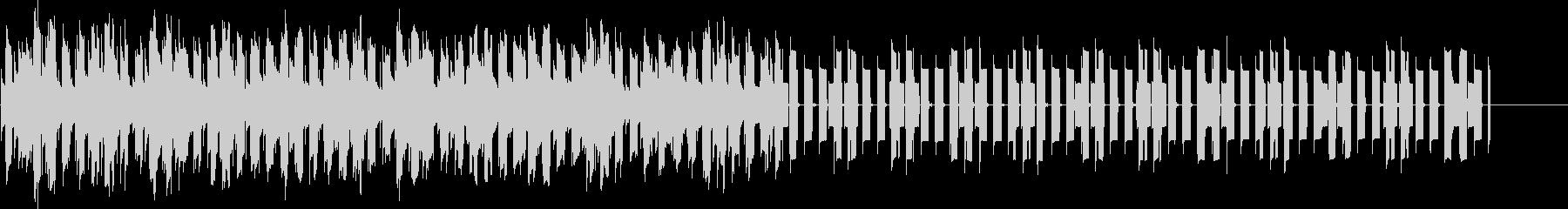 目覚まし時計のアラームベル音2の未再生の波形