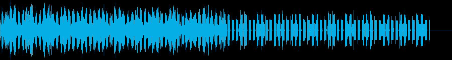目覚まし時計のアラームベル音2の再生済みの波形