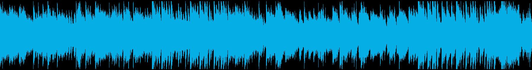 篠笛、ピアノ、和太鼓の曲 ※ループ仕様版の再生済みの波形