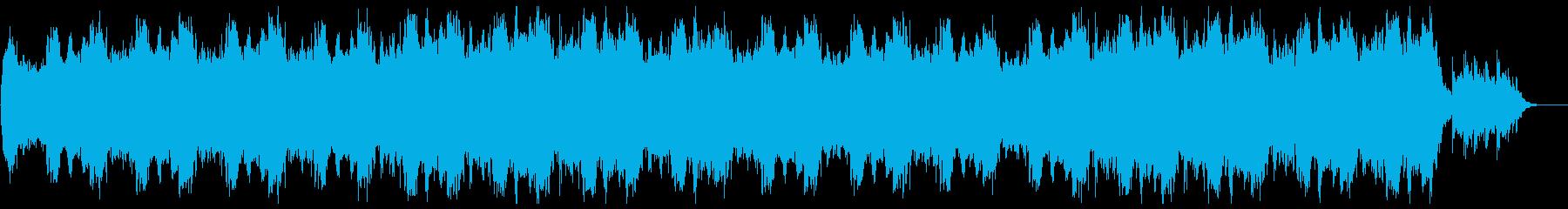 宇宙をイメージするリラクゼーション音楽の再生済みの波形