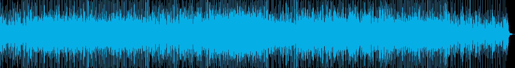 切ない曲調に軽快なリズムが乗ったBGMの再生済みの波形