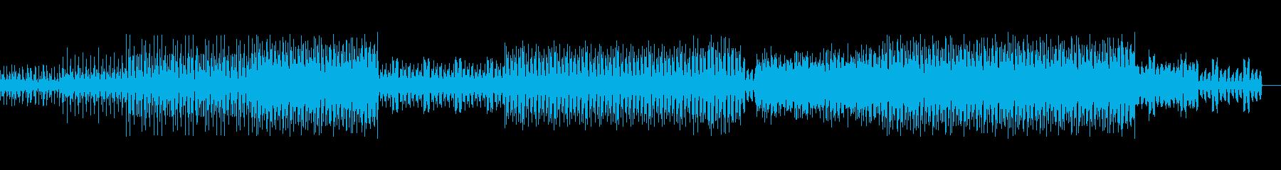 激しいシンセビートとベースのBGMの再生済みの波形