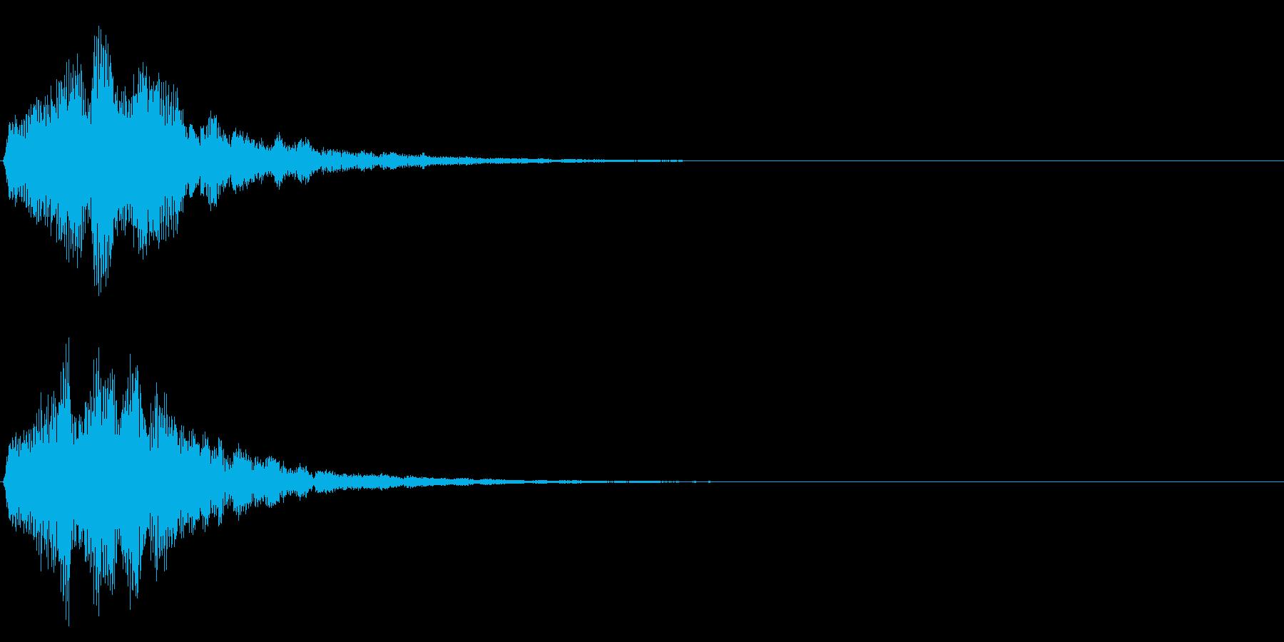 ゲームスタート、決定、ボタン音-111の再生済みの波形