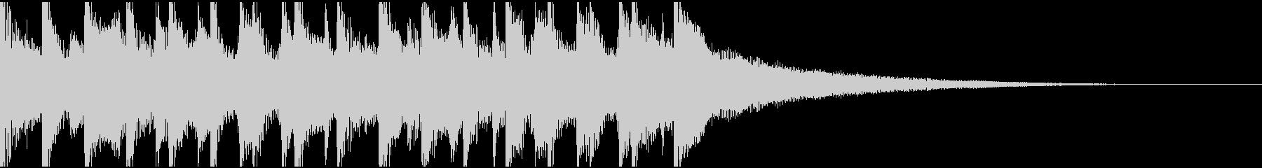 15秒ウクレレ、リコーダーの楽しい楽曲の未再生の波形