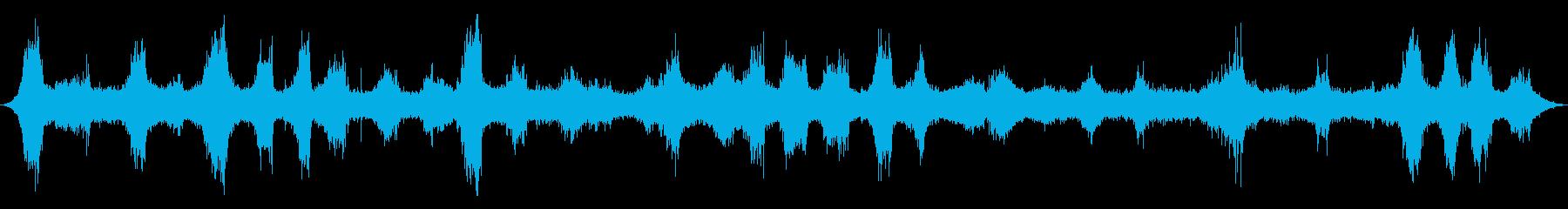 海洋:火山岩の上に重く来る波、重い...の再生済みの波形