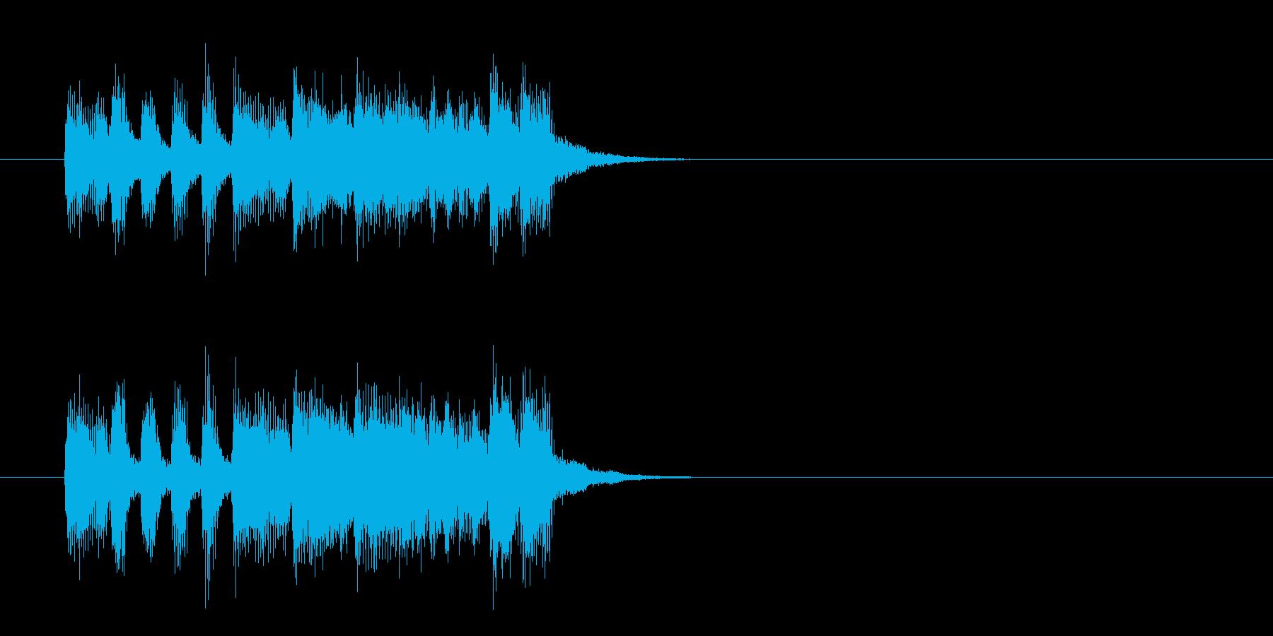 ジングル(ポップ/フュージョン風)の再生済みの波形