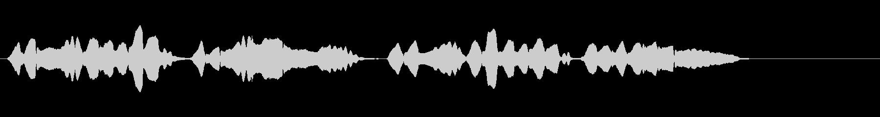 童謡『赤とんぼ』のハーモニカ・ソロの未再生の波形