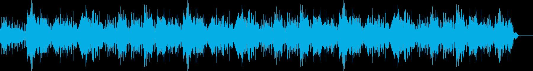 中国をイメージしたゆったりした楽曲の再生済みの波形