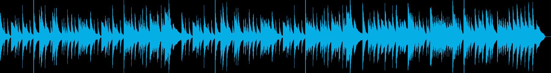 バロック風のピアノ曲の再生済みの波形