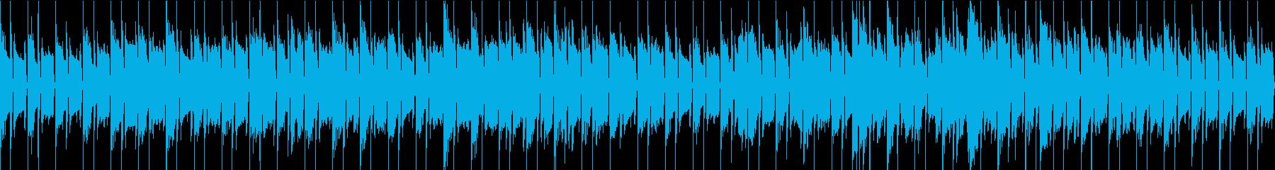 SAX ソロの怪しい雰囲気のループBGMの再生済みの波形