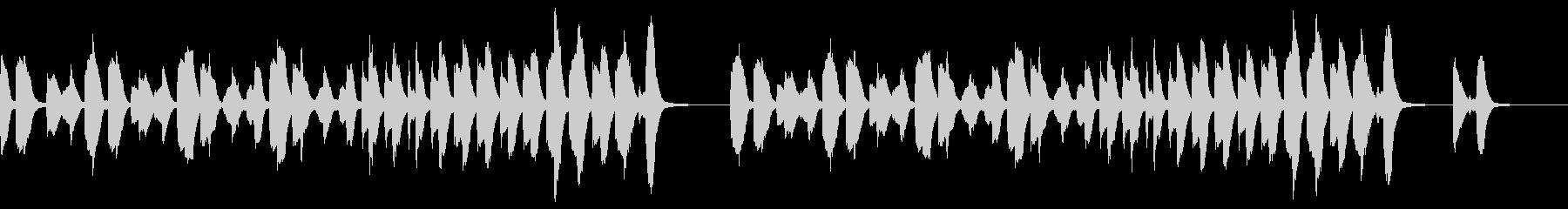 明るくほのぼのとしたピアノソロの未再生の波形