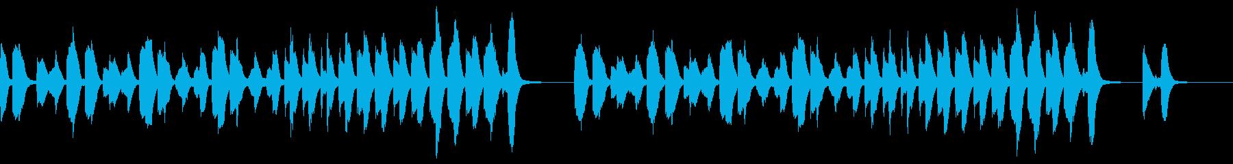 明るくほのぼのとしたピアノソロの再生済みの波形