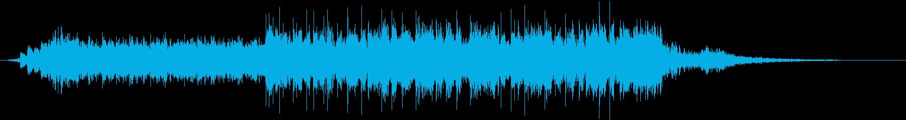 30秒で完結するクールでオシャレなBGMの再生済みの波形