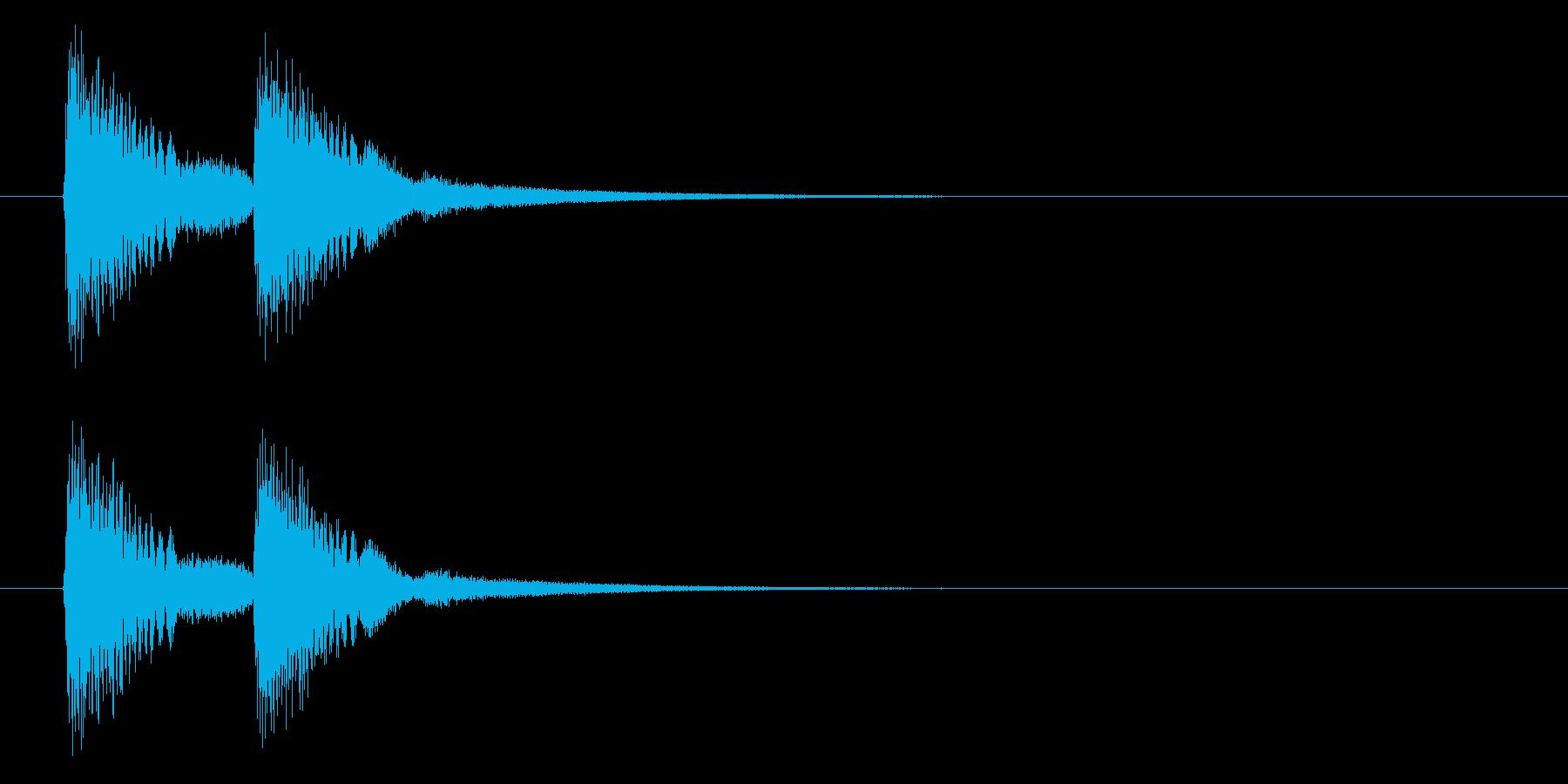 何かに気付いた時に鳴る音/びっくりマークの再生済みの波形