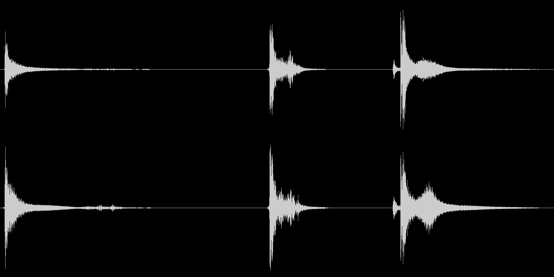 シャベル、メタル、ヒット、ヘビーx3の未再生の波形